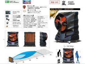 業務用大型冷風機の嵐(ARASHI)